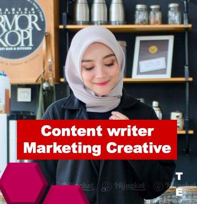 Lowongan Kerja Marketing Creative dan Content Writer